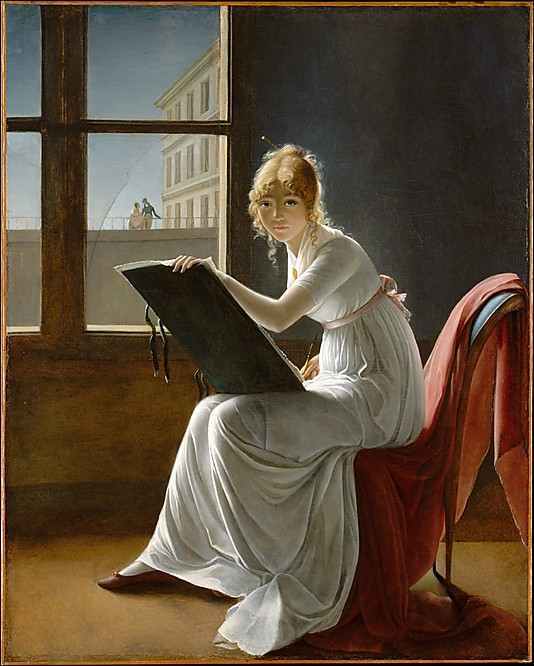 """Young Woman Drawing"" by Marie Denise Villers"